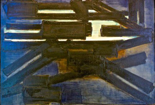 Pierre Soulages, Peinture 89x130 cm, 23 Janvier 1954